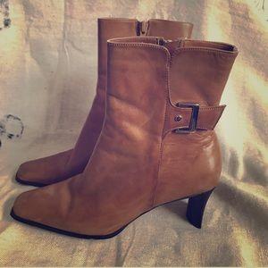 Julia Heeled Leather Boot Funky Heel